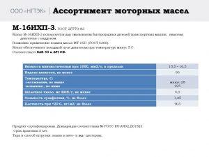 thumbnail of Масло моторное М-16ИХП3