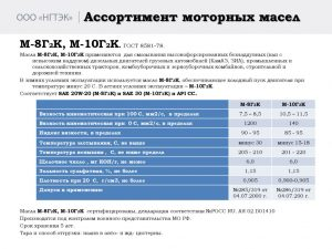 thumbnail of Масло моторное М-8Г2К и М-10Г2К