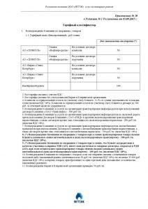 thumbnail of ПРИЛОЖЕНИЕ № 10- ТАРИФНЫЙ КЛАССИФИКАОР